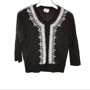 Kate Spade Embellished Cardigan Sweater Size M